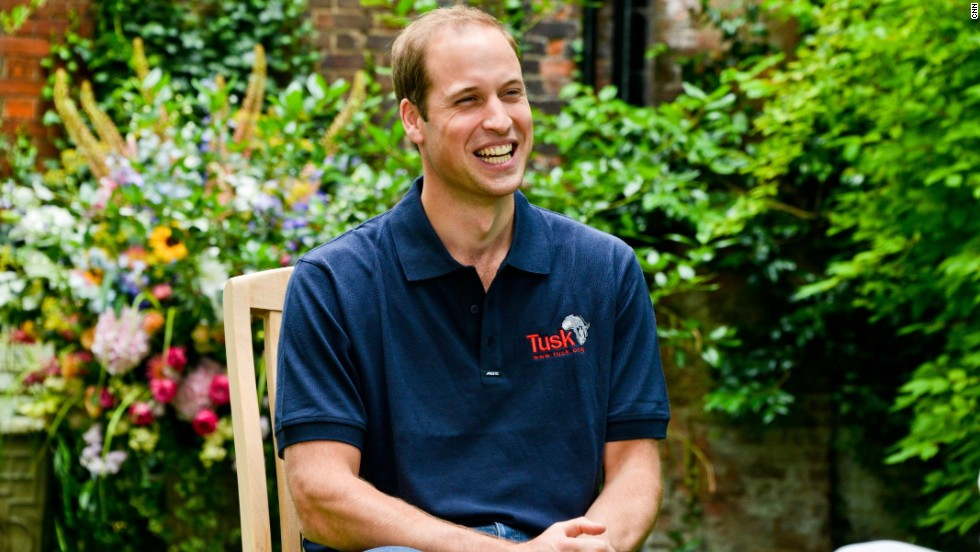 Prince William gave his first official interview since the birth of his son, <a href='http://cnn.com/2013/07/24/world/europe/royal-names-history'>Prince George Alexander Louis</a>, to CNN's Max Foster at Kensington Palace in London.