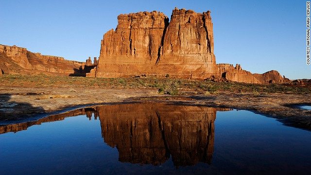 <a href='http://www.cnn.com/2013/08/22/travel/arches-summer-park/index.html'>Arches National Park</a> is one of 401 National Park Service sites to close to visitors during the government shutdown.