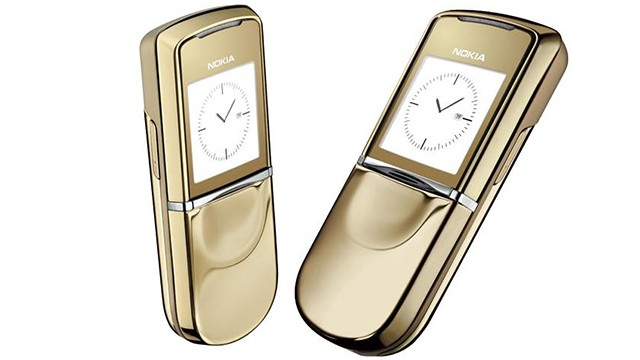 In 2007 Nokia released an 18-karat, gold-plated, Sirocco version of its 8800 phone. Since discontinued, it originally retailed for more than $2,000.