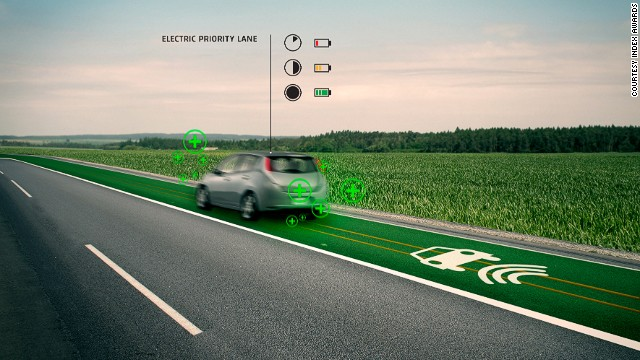 Smart Highways are a concept for the road of the future, which would charge electric vehicles as they drove over it and change color to warn drivers when the temperature dropped below freezing.