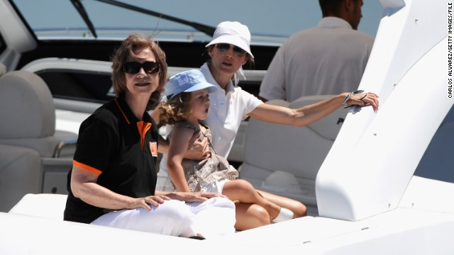 Queen Sofia of Spain (left) -- pictured with Princess Letizia of Spain (right) and daughter Princess Leonor of Spain -- surely has no trouble finding nannies to look after her grandchildren. But other families holidaying at sea are keen to find carers or teachers willing to work in exchange for a free trip.