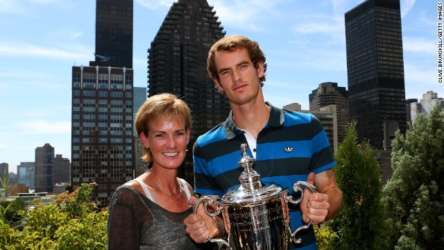 Judy posed with Andy last September after her son won his first grand slam title and ended Britain's 76-year wait for a men's singles champion at a major.