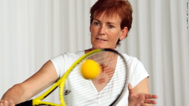 After opting to hang around her brothers and kick around a soccer ball, Judy turned to tennis at the age of nine and prospered in the juniors in Scotland.