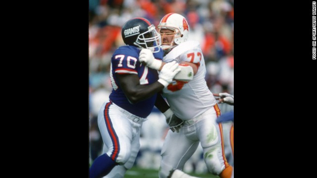 Tom McHale of the Tampa Bay Buccaneers, right, died in 2008 <a href='http://www.cnn.com/2009/HEALTH/01/26/athlete.brains/index.html'>of an apparent drug overdose</a> at the age of 45.