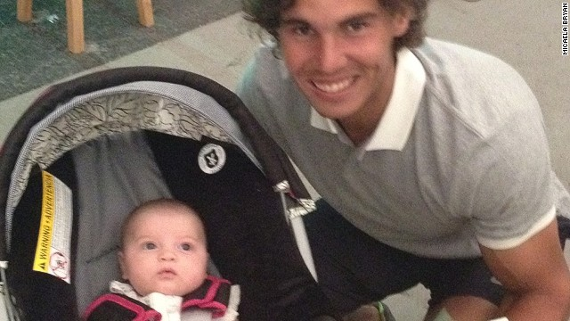 Micaela's online adventures began after an early snap taken with Rafael Nadal.