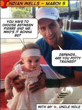 """Uncle Nole"" makes regular appearances on Micaela's Twitter page -- when he manages time away from his dog Pierre. The poodle also has <a href='https://twitter.com/PierreDjoko' target='_blank'>his own Twitter handle.</a>"