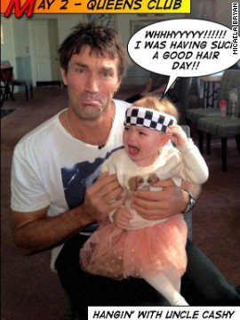 Micaela met Pat Cash for the Bryans' interview with CNN's Open Court, but she was not too impressed by the former Wimbledon champion's trademark headgear.