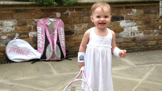 "Micaela is destined for a tennis life, and in June she proudly <a href='https://twitter.com/MicaelaBryan/status/348873727510999041/photo/1' target='_blank'>announced a racket deal ""after a long 16 months of negotiations.""</a>"