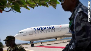 Turkish Airlines flies to 39 destinations in Africa, including Somalia