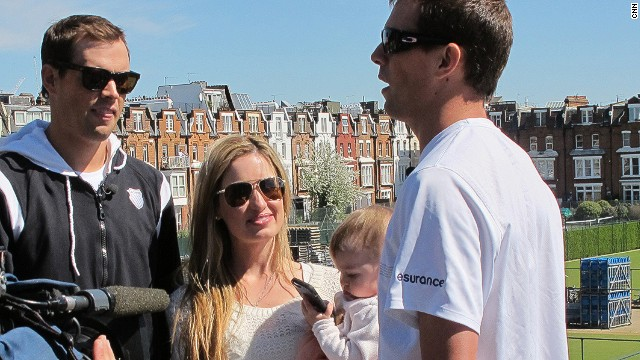 She came to the Open Court shoot at London's Queen's Club with her dad, uncle and mom Michelle.