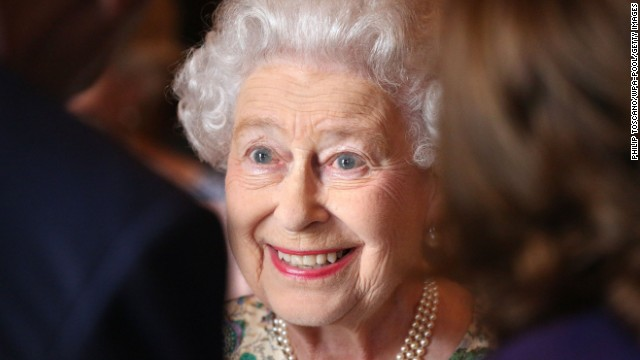 LONDON, ENGLAND - JULY 23: Queen Elizabeth II attends a reception for the Winners of the Queens Award for Enterprise 2013 at Buckingham Palace in London. Tuesday July 23, 2013. (Photo by Philip Toscano/WPA-Pool/Getty Images)