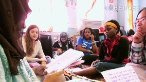 The GirlForward headquarters has become a place the young refugees can bond with one another.