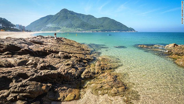 The beaches on Bijindo, South Korea, are this beautiful and this empty most days of the year.