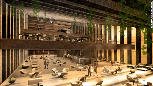 The hotel will also serve as a congress center, with multiple restaurants and an exhibition space.