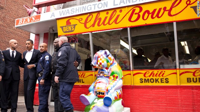 President Obama likes to chow down at DC neighborhood landmark, Ben's Chili Bowl