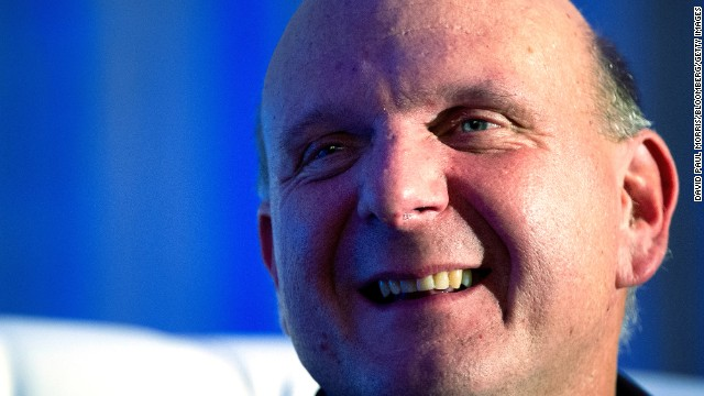 Steve Ballmer, Microsoft's longtime CEO, is not one to hide his emotions. The burly chief executive, who announced Friday that he is stepping down within 12 months, is known for his exuberant persona at tech events. Here's a look at some of his many mugs.