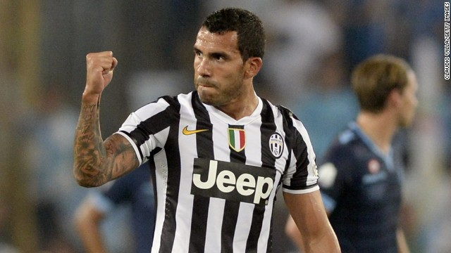 Juventus acquired Argentina striker Carlos Tevez from Manchester City in June 2013 ahead of the club's bid for a third straight Serie A title. In third place after eight games, Conte's team is desperate to again qualify for the lucrative European Champions League.