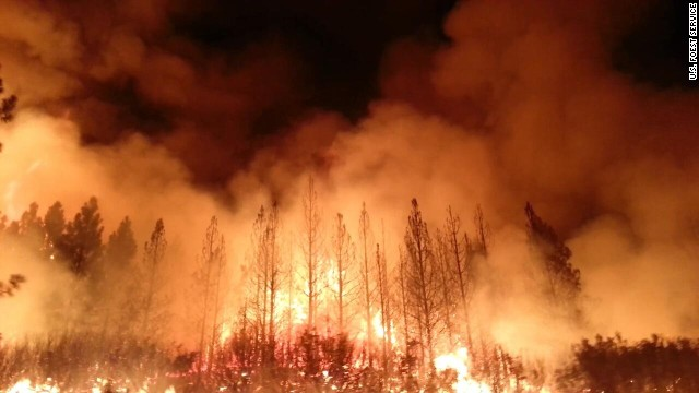 The Rim Fire has burned 105,620 acres, spreading from Stanislaus National Forest to part of Yosemite, Forest Service on Friday, August 23, spokesman Bjorn Fredrickson said.