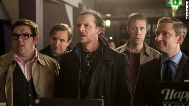 "Nick Frost, Eddie Marsan, Simon Pegg, Paddy Considine and Martin Freeman star in '""The World's End,"" which concludes director Edgar Wright's ""Cornetto Trilogy."" The film earned 90% approval from critics."