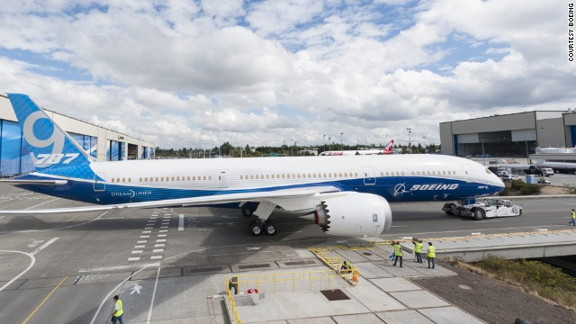 Boeing completes first 787-9 Dreamliner.