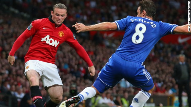 Amid ongoing speculation about his future, Wayne Rooney, left, played all 90 minutes for Manchester United on Monday.
