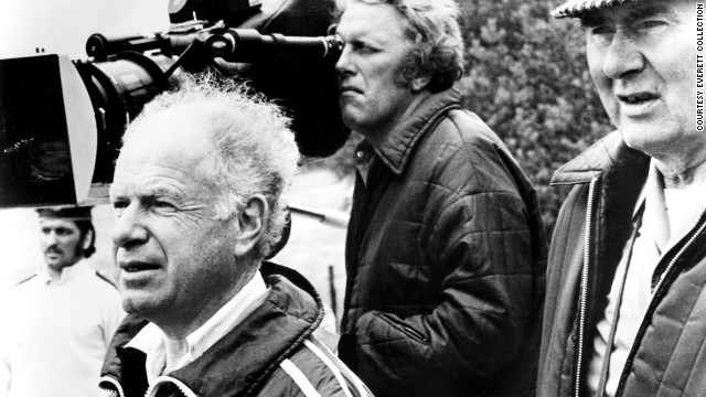 "British cinematographer Gilbert Taylor, right, died in his home on the Isle of Wight on Friday, August 23. The man behind the visual style of movies such as ""Star Wars"" and ""Dr. Strangelove"" was 99. Here, Taylor and director Peter Brooks, left, film ""Meetings With Remarkable Men"" in 1979."