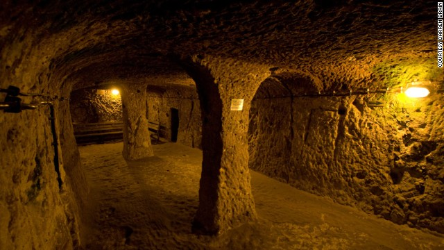 The underground city of Derinkuyu is an eight-level warren of traps and wrong turns descending about 200 feet into the earth.