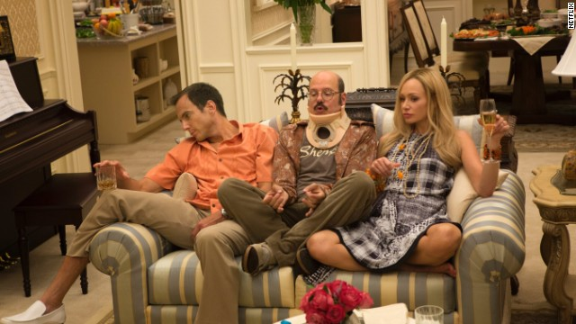 (From left) Will Arnett, David Cross and Portia de Rossi all returned for the new