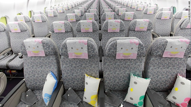 These Kitty jets are likely be the only aircraft from which you might be tempted to steal the headrest cover.