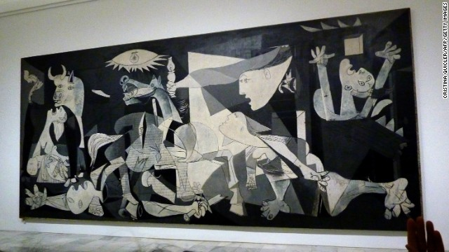 Guernica is Spain's most iconic painting, created by Pablo Picasso and housed at the Centro de Arte Reina Sofia. It's his depiction of the 1937 bombing of the Basque town by Hitler's Legion Condor.