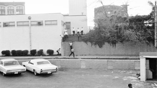 Pictured is an area around the Lorraine Motel in Memphis, where King was murdered on April 4, 1968. He was gunned down on a hotel balcony by James Earl Ray, who confessed to the assassination and was sentenced, but he promptly recanted and attempted to be tried on an innocent plea. He died in prison in 1998.