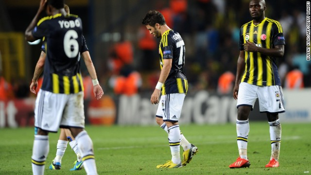 Fenerbahce were beaten 5-0 on aggregate in a two-legged Champions League playoff against Arsenal.