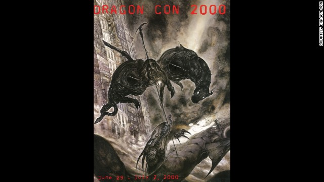 """Hero and Dragon"" by Yoshitaka Amano in 2000"