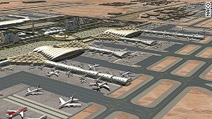 Riyadh\'s main airport, King Khaled International, is undergoing an $800 million expansion. The new airport will be able to handle 50 million passengers annually, in keeping with the country\'s 5% annual growth.