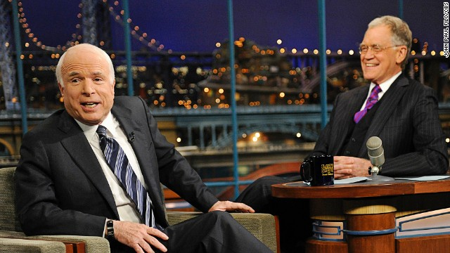 After initially trying to skip out on Letterman's show in 2008, John McCain finally made it into the hot seat that October. The politician was faced with chatting up a man who roasted him for his cancellation in an earlier monologue. Both moments were deliciously squirmy TV.