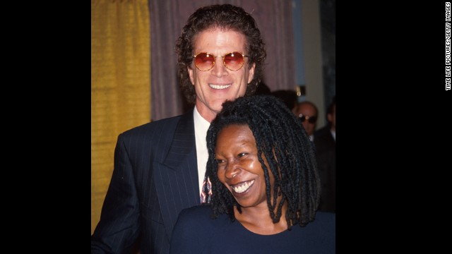 "Ted Danson and Whoopi Goldberg <a href='http://www.people.com/people/archive/article/0,,20110576,00.html' target='_blank'>famously dated in 1993</a>. The two played on-screen love interests in the comedy ""Made In America,"" and they were soon moving the romance off screen as well."
