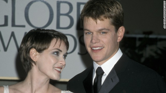 "Perhaps it's because of the timing -- Matt Damon's career was just taking off with ""Good Will Hunting"" when he hooked up with Winona Ryder -- but it's easy to forget these two were a serious couple between 1997 and 2000."