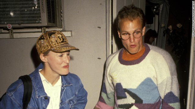 "Glenn Close and Woody Harrelson <a href='http://www.people.com/people/article/0,,20115633,00.html' >are said to have become romantic partners for a spell in 1991</a>, when they performed in the play ""Brooklyn Laundry"" together."