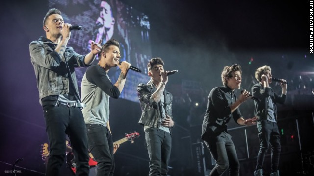 The boys of One Direction show their singing skills in the movie