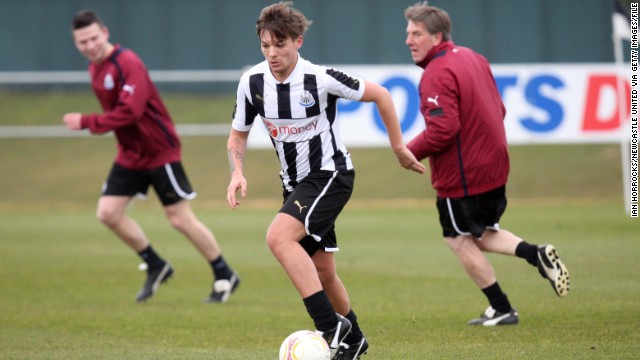Louis Tomlinson, who was recently <a href='http://edition.cnn.com/2013/08/01/sport/football/football-one-direction-louis-tomlinson'>offered</a> a deal by professional football club Doncaster Rovers to join the club.