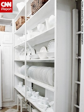 <a href='http://ireport.cnn.com/docs/DOC-1028123'>KariAnne Wood'</a>s butler's pantry shows off the beauty of everyday dishes.