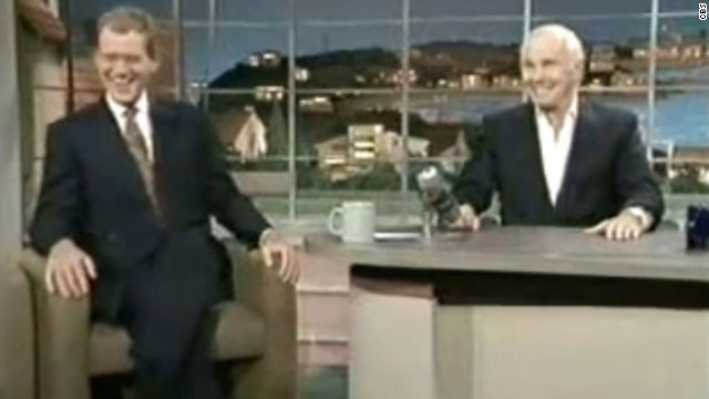 "Any moment with legend Johnny Carson and legend-in-the-making Letterman was destined to be a classic, but Carson's appearance on the ""Late Show"" in May 1994 is the most memorable. The former ""Tonight Show"" host opted to make his last TV showing with Letterman, who appropriately handed over his desk chair to his idol."