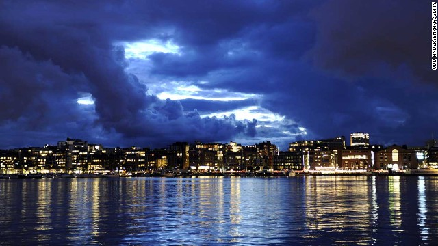 Norway, the only other territory with per capita GDP above $100,000 ($100,819 to be precise), is the second richest. Its capital, Oslo, is seen here.