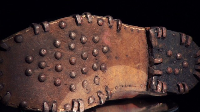 Bramini, who was on the expedition, concluded that the hobnail boots that climbers traditionally wore were partly to bl