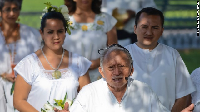 Luz Carmen Gonzalez marries Jesus Chacon in the last Maya wedding before the end of the Maya Long Count Calendar --Baktun 13-- and the beginning of a new era on December 17, 2012 in Merida Mexico.