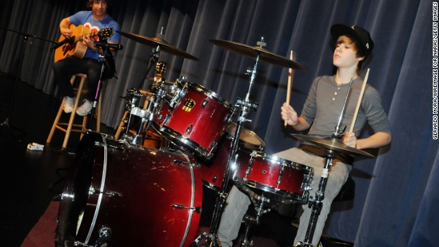 "When Justin Bieber's mom gave him a drum kit for his second birthday, <a href='http://www.biography.com/people/justin-bieber-522504' target='_blank'>he says he was ""basically banging on everything"" </a>he could get his hands on."
