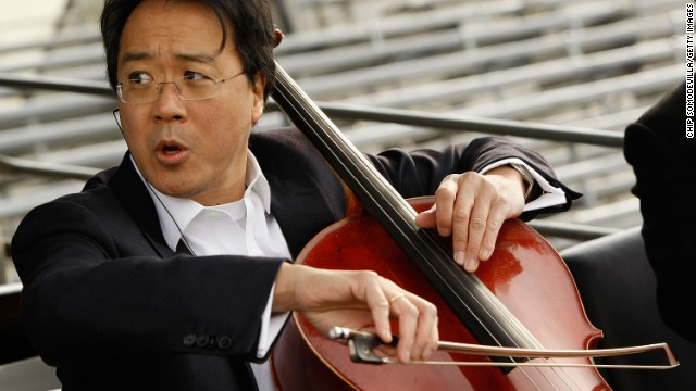 Cellist Yo-Yo Ma, seen here rehearsing for the presidential inauguration in 2009, began <a href='http://www.yo-yoma.com/yo-yo-ma-biography' target='_blank'>studying the cello with his dad when he was 4</a>.