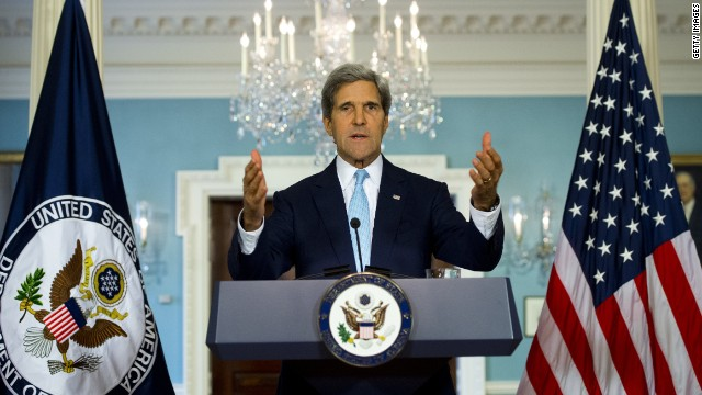 Kerry condemns Russia's 'invasion and occupation of Ukrainian territory'