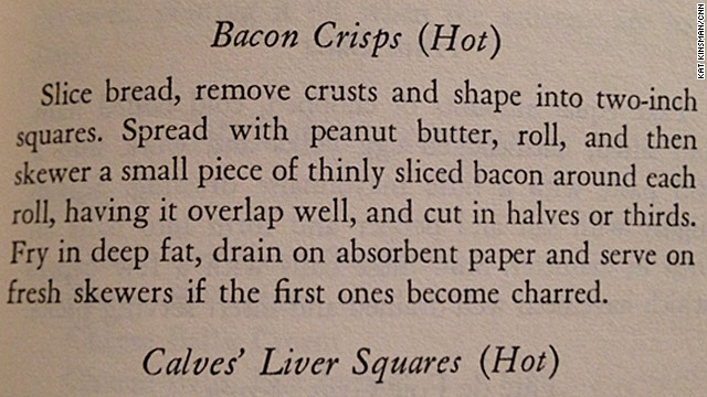 Bacon Crisps: A Book of Hors d'Ouevre by Lucy G. Allen (1941)