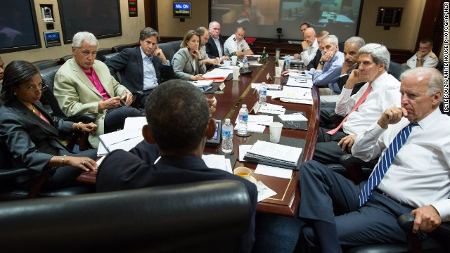 President Barack Obama meets with his national security advisers Saturday morning to discuss strategy in Syria.
